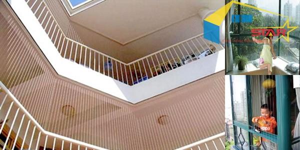 Lưới an toàn ban công, Lưới an toàn, Sử dụng lưới an toàn ban công, Lưới an toàn ban công được lắp đặt không giới hạn về kích thước, lắp đặt lưới an toàn ban công tại Hòa Phát, Lưới an toàn ban công giúp bảo vệ trẻ nhỏ, thiết kế của Lưới an toàn ban công