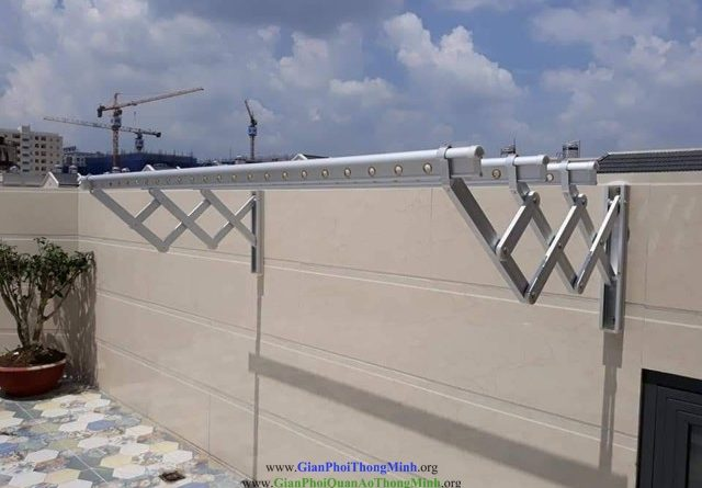 Lắp giàn phơi gắn tường inox, giàn phơi gắn tường inox, Giàn phơi inox, Thanh phơi, Gianphoiquanaothongminh.org, giàn phơi, giàn phơi gắn tường