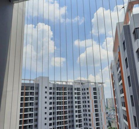 Lưới an toàn ban công, an toàn nhà cao tầng, tai nạn nhà cao tầng, nhà cao tầng, nhà chung cư, tai nạn từ ban công, Lưới an toàn