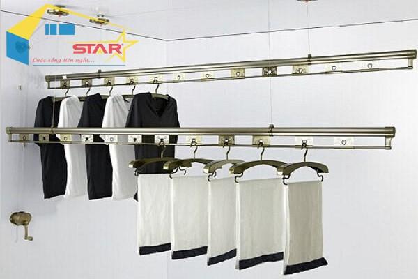 MUA GIÀN PHƠI QUẦN ÁO THÔNG MINH Ở ĐÂU, giàn phơi thông minh, Bộ sản phẩm giàn phơi thông minh, Giải pháp mới cho việc phơi quần áo