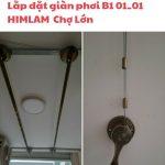 Lắp đặt giàn phơi thông minh Hòa Phát KS950 cho chung cư Him Lam Chợ Lớn